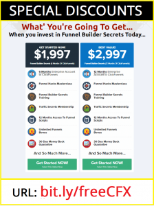 Funnel Builder Secrets Webinar Discount